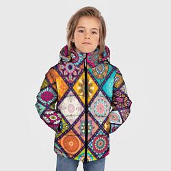 Куртка зимняя для мальчика Узоры мандалы цвета 3D-черный — фото 2