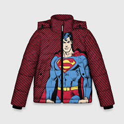 Куртка зимняя для мальчика I am your Superman цвета 3D-черный — фото 1