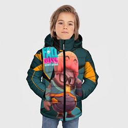 Куртка зимняя для мальчика Fall Guys Gordon Freeman цвета 3D-черный — фото 2