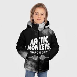 Куртка зимняя для мальчика Arctic Monkeys цвета 3D-черный — фото 2