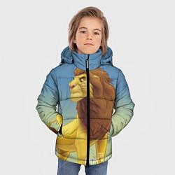 Куртка зимняя для мальчика Взрослый Симба цвета 3D-черный — фото 2
