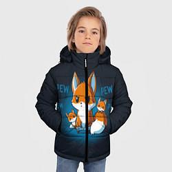 Куртка зимняя для мальчика Лисы-геймеры цвета 3D-черный — фото 2