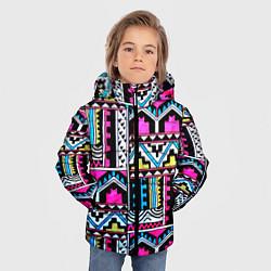Куртка зимняя для мальчика Ацтеки цвета 3D-черный — фото 2