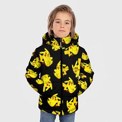 Куртка зимняя для мальчика Веселый пикачу цвета 3D-черный — фото 2