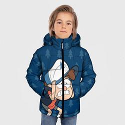 Куртка зимняя для мальчика Диппер Пайнс цвета 3D-черный — фото 2