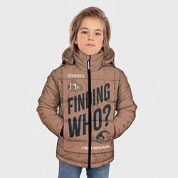 Куртка зимняя для мальчика Finding Who? цвета 3D-черный — фото 2