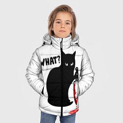 Куртка зимняя для мальчика What Cat цвета 3D-черный — фото 2