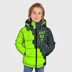 Куртка зимняя для мальчика JUST DO IT цвета 3D-черный — фото 2