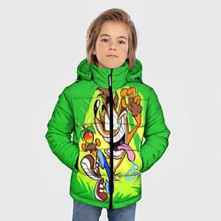 Детская зимняя куртка для мальчика с принтом CRASH BANDICOOT, цвет: 3D-черный, артикул: 10275187506063 — фото 2