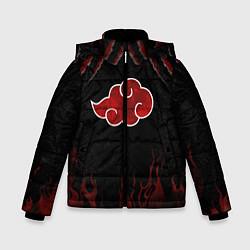 Куртка зимняя для мальчика Акацуки цвета 3D-черный — фото 1