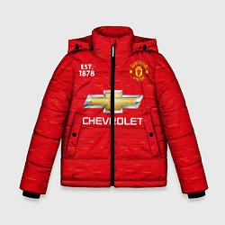 Куртка зимняя для мальчика MANCHESTER UNITED 2021 - HOME цвета 3D-черный — фото 1