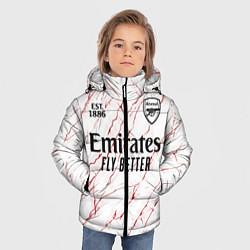 Куртка зимняя для мальчика ARSENAL 2021 - ГОСТЕВАЯ цвета 3D-черный — фото 2