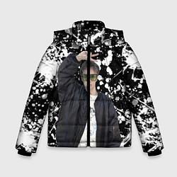 Куртка зимняя для мальчика Slava Marlow цвета 3D-черный — фото 1