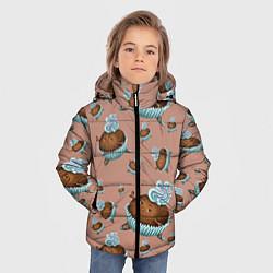 Куртка зимняя для мальчика Шоколадка-балеринка цвета 3D-черный — фото 2