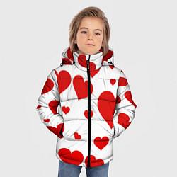 Куртка зимняя для мальчика Сердечки цвета 3D-черный — фото 2