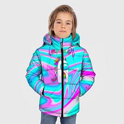 Куртка зимняя для мальчика Impostor Unicorn цвета 3D-черный — фото 2