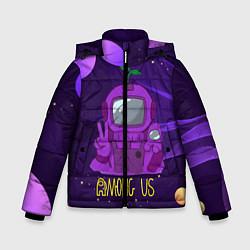 Куртка зимняя для мальчика Among Us x Fortnite цвета 3D-черный — фото 1