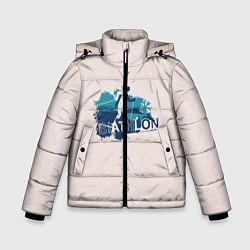 Куртка зимняя для мальчика Биатлон цвета 3D-черный — фото 1