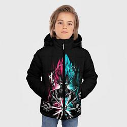 Куртка зимняя для мальчика DRAGON BALL цвета 3D-черный — фото 2