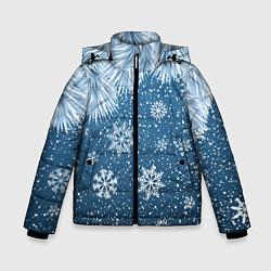 Куртка зимняя для мальчика Снежное Настроенние цвета 3D-черный — фото 1