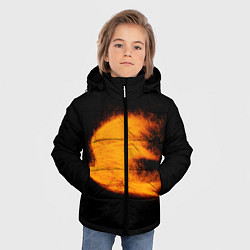 Куртка зимняя для мальчика Огненная птица цвета 3D-черный — фото 2