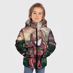 Куртка зимняя для мальчика Аска Евангелион цвета 3D-черный — фото 2
