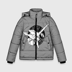 Куртка зимняя для мальчика Евангилион цвета 3D-черный — фото 1