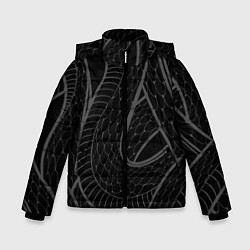 Куртка зимняя для мальчика Змеи цвета 3D-черный — фото 1