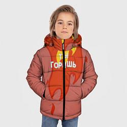 Куртка зимняя для мальчика Ты горишь как огонь v2 цвета 3D-черный — фото 2
