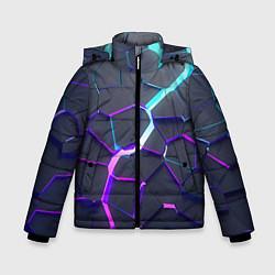 Куртка зимняя для мальчика НЕОНОВЫЙ РАЗЛОМ 3Д РАЗЛОМ цвета 3D-черный — фото 1