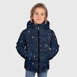 Куртка зимняя для мальчика Созвездия цвета 3D-черный — фото 2