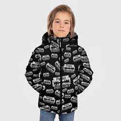 Куртка зимняя для мальчика Peaky Blinders Лезвие Паттерн цвета 3D-черный — фото 2