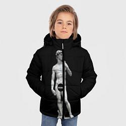 Куртка зимняя для мальчика David Censored цвета 3D-черный — фото 2