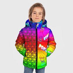 Куртка зимняя для мальчика POP it! цвета 3D-черный — фото 2