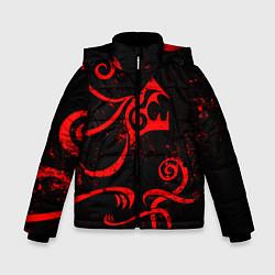 Куртка зимняя для мальчика ТАТУИРОВКА ДРАКЕНА цвета 3D-черный — фото 1