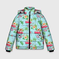 Куртка зимняя для мальчика Путешествие хиппи цвета 3D-черный — фото 1