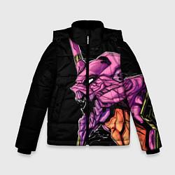 Куртка зимняя для мальчика Evangelion Eva 01 цвета 3D-черный — фото 1