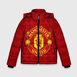 Детская зимняя куртка для мальчика с принтом Manchester United, цвет: 3D-черный, артикул: 10063820006063 — фото 1