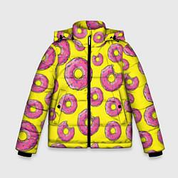 Куртка зимняя для мальчика Пончики Гомера цвета 3D-черный — фото 1