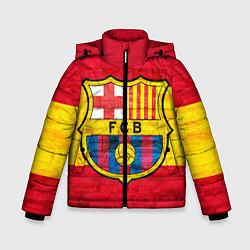 Детская зимняя куртка для мальчика с принтом Barcelona, цвет: 3D-черный, артикул: 10063905206063 — фото 1