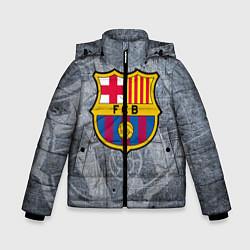 Детская зимняя куртка для мальчика с принтом Barcelona, цвет: 3D-черный, артикул: 10063906106063 — фото 1