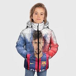 Детская зимняя куртка для мальчика с принтом Neymar FCB, цвет: 3D-черный, артикул: 10063907306063 — фото 2