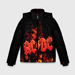 Куртка зимняя для мальчика AC/DC Flame цвета 3D-черный — фото 1