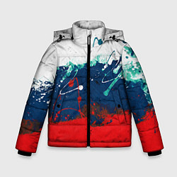 Куртка зимняя для мальчика Триколор РФ - фото 1