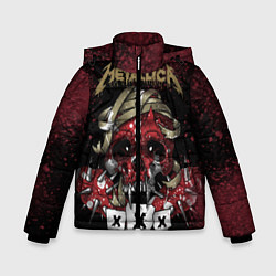 Детская зимняя куртка для мальчика с принтом Metallica: XXX, цвет: 3D-черный, артикул: 10064308106063 — фото 1