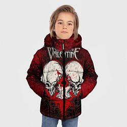 Детская зимняя куртка для мальчика с принтом BFMV: Duo Skulls, цвет: 3D-черный, артикул: 10064310206063 — фото 2