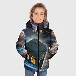 Детская зимняя куртка для мальчика с принтом Police Box, цвет: 3D-черный, артикул: 10065034706063 — фото 2