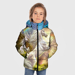 Куртка зимняя для мальчика Радужный единорог цвета 3D-черный — фото 2