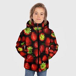 Куртка зимняя для мальчика Клубничка цвета 3D-черный — фото 2