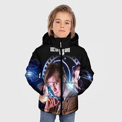 Детская зимняя куртка для мальчика с принтом Одиннадцатый Доктор, цвет: 3D-черный, артикул: 10065373106063 — фото 2